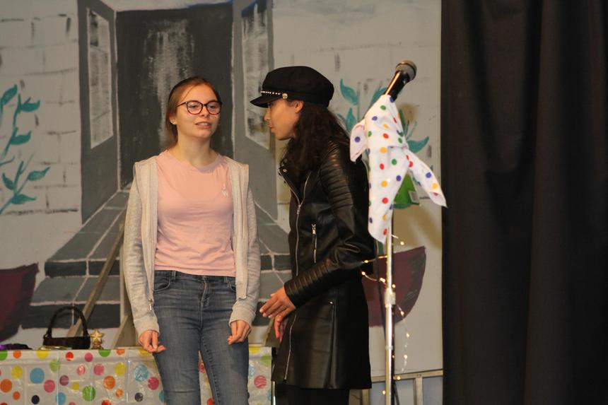 Some impro from two of our budding actresses