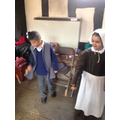Learning about life in Tudor times at Selly Manor.