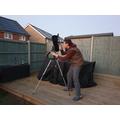 He's been using his telescope...