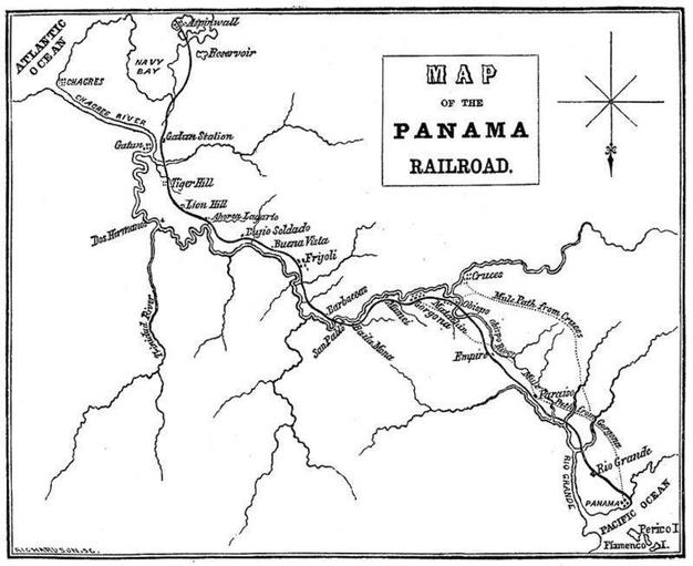 The Panama Railroad that Stephens helped build.