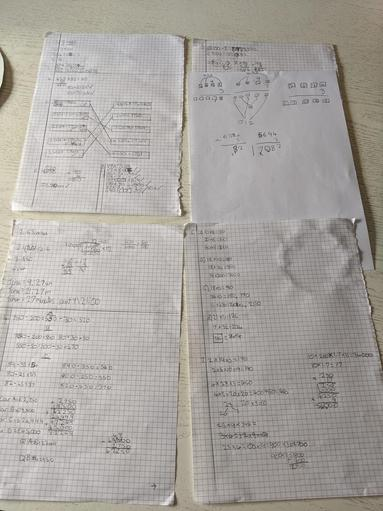 Phoebe's Maths from Monday and Tuesday
