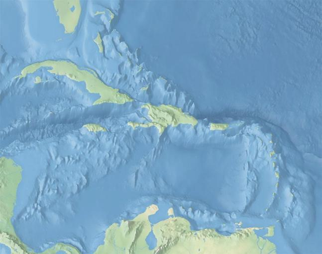 Check out the underwater features of the Caribbean