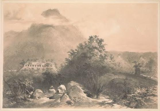 Catherwood's view of the Temple of Inscriptions