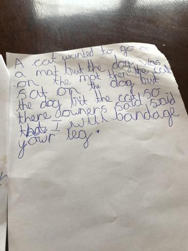 Sandy's beautiful writing