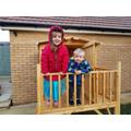 He built a playhouse!