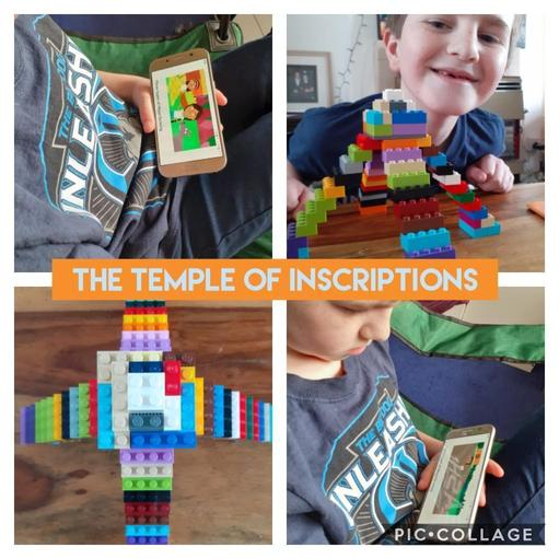 Research and temple building with Lego!