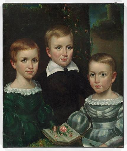Emily, Austin and Lavinia Dickinson, 1840.