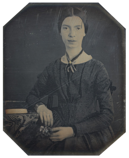 Emily Dickinson in 1846, aged 16.