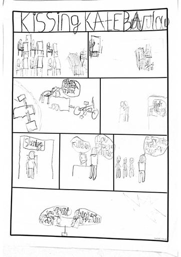 Archie's created a comic strip...