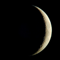 ...and one of the crescent moon last week!