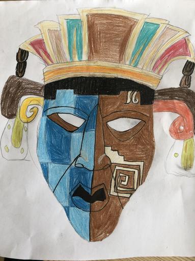 Kitty's Maya mask design