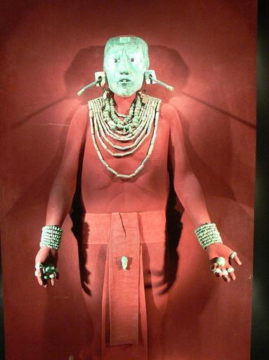 Pakal's funerary jewellery and reconstructed mask