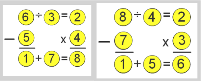 A square of numbers Answers