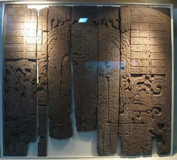 Carved wooden lintel found inside Temple 4