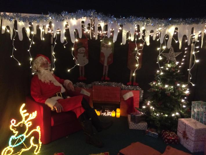 Father Christmas at the PTA Fair December 2017