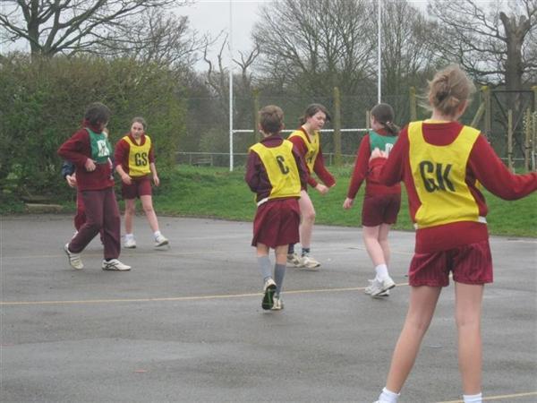 McKinley netballers in action