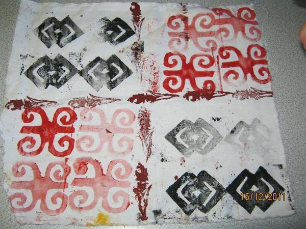 Adinkra printing