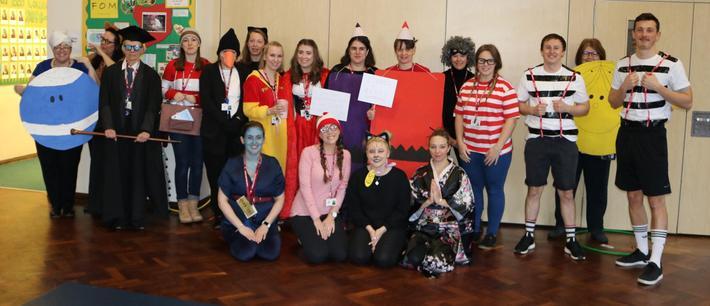 Staff on World Book Day