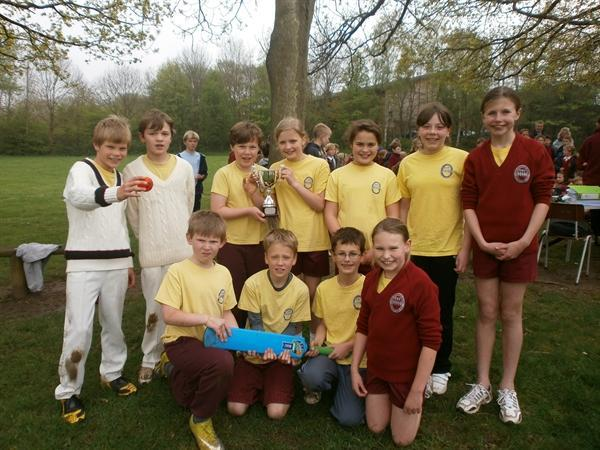 The winning team from interhouse cricket