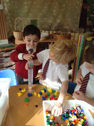 Chestnut Class investigating Archimedes Principle