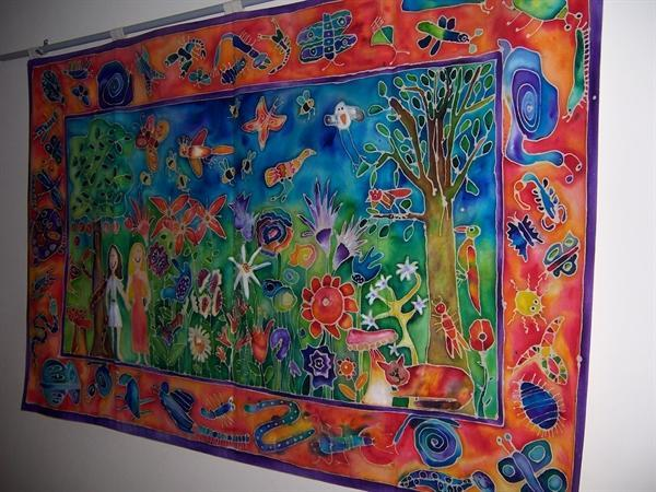 One of the batiks made by the children in RE Week