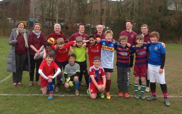 Year 6 v Staff Football March 2016