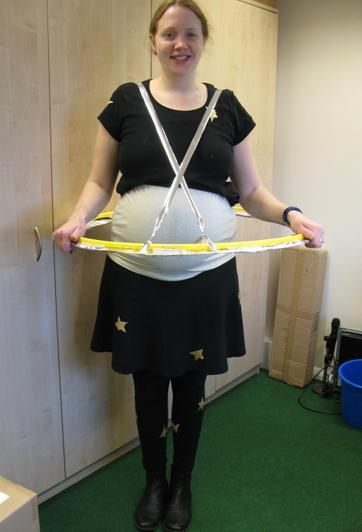 Miss Oliver as Saturn