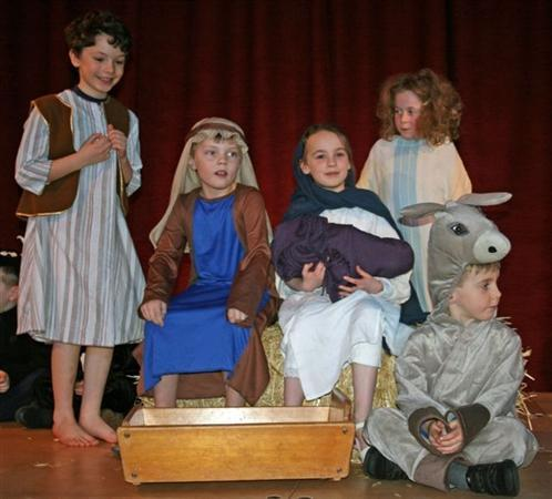 In the Key Stage 1 Nativity performance