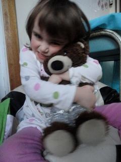 Big hug for Joe bear