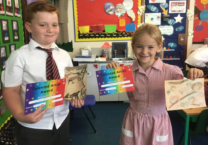 Two of our weekly Talented Artist winners