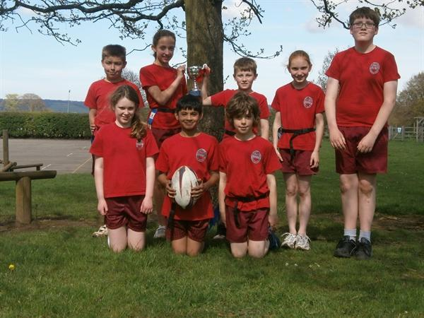Winners of interhouse Tag rugby