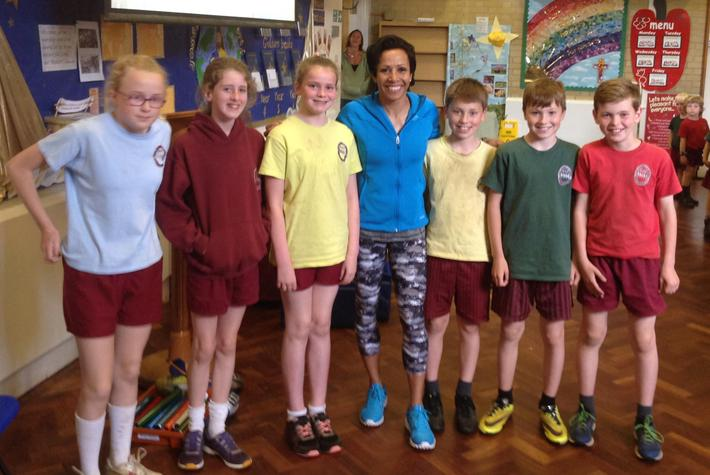 Kelly Holmes with Sports Captains 2016