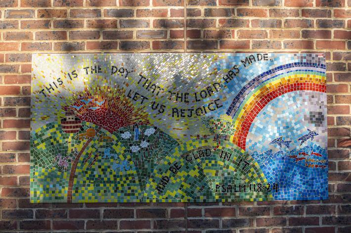 'Rejoice' Mosaic
