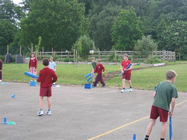Kwik Cricket skills - batting this week!