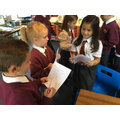 Collecting data in topic maths.