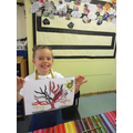 Sophia is so proud of this independent painting!