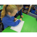 We roll a dice and then practise reading the words.