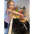 Sophie baking