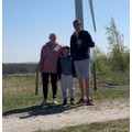 Joel visiting the windmills.