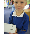 Amazing maths from this young man again! What a star!