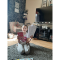Lucy pleased with her new book and work