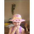 Sophia's beautiful Easter bonnet.