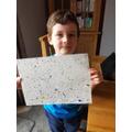 Kol's fabulous splatter painting.