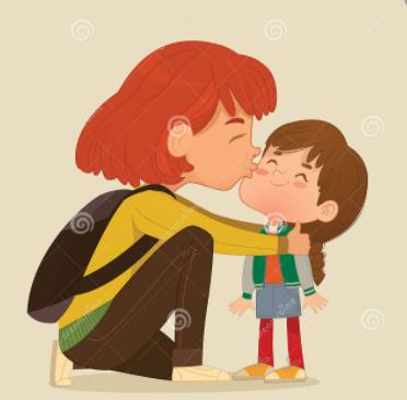 Mum got a hug and a kiss.