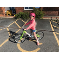 Mrs H's daughter, Libby, loves her bike