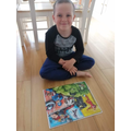 Ellis' completed jigsaw - well done.