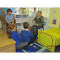These superstars decided to turn our reading are into a school and practise tricky worda.