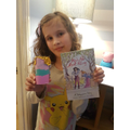 Evie made a puppet character from her book