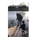 Logan has been learning how to fish at the weekend