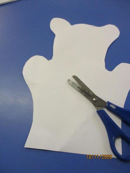 Then I carefully cut around the shape.